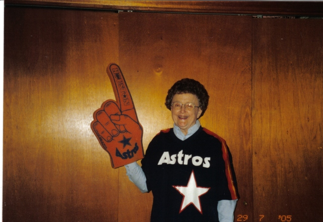 in astros jersey