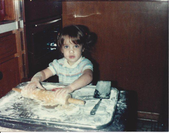 Marci making cookies