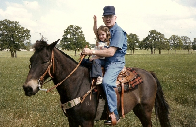 Gramps and Marci horse